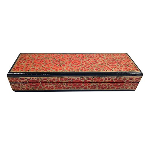 Pintado a mano: caja de papel kashmiri para manualidades, caja de ...