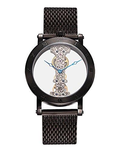 Burgmeister Armbanduhr für Herren mit Analog Anzeige, Handaufzug-Uhr mit Edelstahl Armband - Wasserdichte Herrenuhr mit zeitlosem, schickem Design - klassische Uhr für Männer - BM331-602B Tulsa