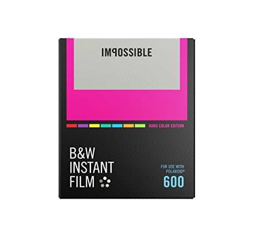 Price comparison product image Impossible PRD-4523 Black & White Instant Film (Hard Color Frame) for Polaroid 600-Type Cameras