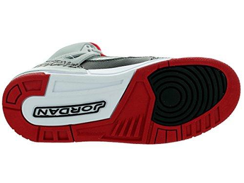 Nike Jordan Spizike Bg, Chaussures de Sport Garçon, Noir Gris / Rouge / Noir (Wolf Grey / Gym Red-Black)