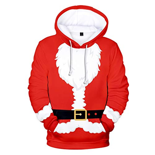 GOKOMO Weihnachtsmänner Bedruckte runde Krawatte Hut Pullover -