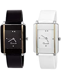 Justice Fashion New Stylish Collection Of Analouge Black Dial Girls And Women Watch-kawa-Black-White