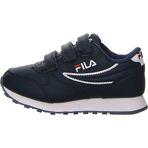 Fila Unisex - Kinder Orbit Velcro Low Jr Sneaker Größe 34 EU Blau (blau) - Kinder Fila