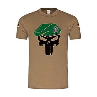 BW Tropen PzGren Skull Panzergrenadier Bundeswehr Tropenshirt T-Shirt#31847, Größe:XL, Farbe:Khaki