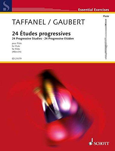 24 Études progressives dans tous les tons: sur les principales difficultés. Flöte. (Edition Schott)