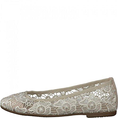 Tamaris Trend Ballerina crema 1-22106-26 401 Beige macramé, Tamaris Damen-Schuhe:36