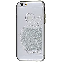 iShield® 6 Light Luxury Cases with Crystals from Swarovski® for iPhone 6/6S - Case Type: iShield® 6 Light Case King Apple (Silver Satin Matte)