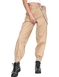 7f5a7b9e33 La Mujer Casual Solid Pantalones Cargo Pantalones Largos Deportivos  Pantalones Regulares