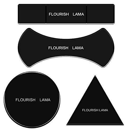 yadeer 4Stück Flourish Lama Mehrzweck-Nano Gel-Pads für KFZ-Halterung GPS Sticky Matte Handy Wand Halt