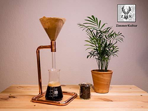 Kaffeebereiter, Pour Over, Kupfer und Glas, handgearbeitet