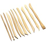 Kabeer Art Set Of 10 Wooden Clay Tools With Double Sided Crafting Sculpting Modelling Pottery Ends
