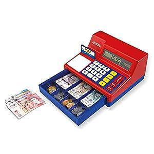Learning Resources- Caja registradora calculadora con Dinero del Reino Unido de Juguete Pretend & Play, Color (LSP2629-UK)