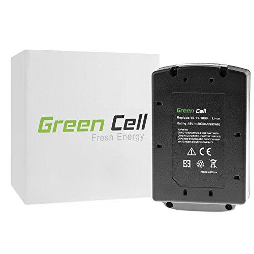 Green Cell® Batteria per Milwaukee M18 SAWZALL (Li-Ion 2Ah (18v Sawzall)