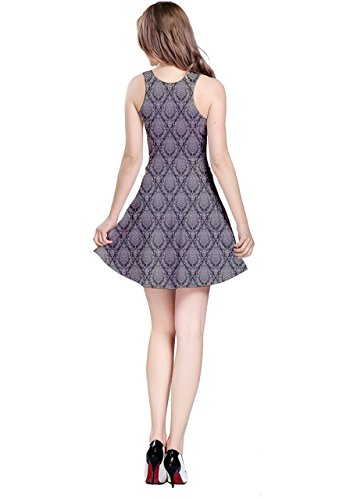 CowCow - Robe - Femme Colorful Chevron Gray Damask