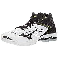 Mizuno Men's Wave Lightning Z5 Mid Volleyball Shoe, whiteblack, 9.5 D US