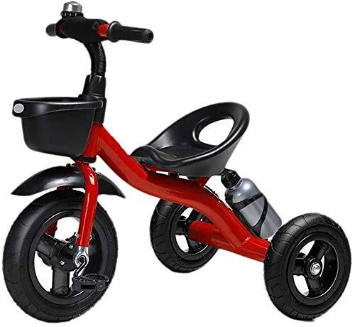 WLD Bicicletta per bambini , Triciclo per bambini 1-3-2-6 anni Triciclo Bicicletta per bambini Passeggino Triciclo per esterno Ragazzo e ragazza Macchinine Sedile portatile,Rosso
