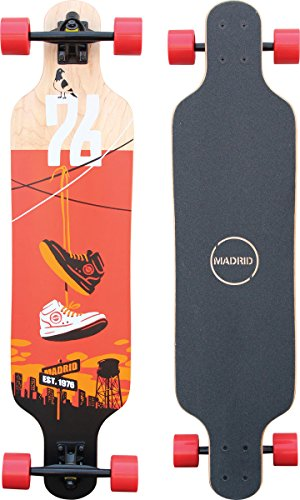"Madrid Trance 39"" Top-Mount Shoes Longboard, One Size"