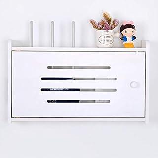 LTJTVFXQ-shelf Set Top Box WiFi Router Aufbewahrungsbox Kabelbox Wandregal Kleines schwebendes Regal Wand-TV-Schrank Multifunktionale Display-Regal (Farbe : Weiß, größe : D)