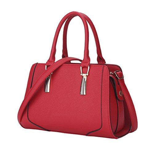 Dissa S848 Nuovo Stile Pu Pelle Deman 2018 Moda Borse A Tracolla Borse Borse, 300 × 130 × 205 (mm) Rosso