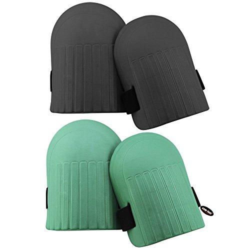 COM de Four® 2x Rodilleras/rodilleras para redes de hogar y jardín trabajo, 2 Paar/schwarz & grün
