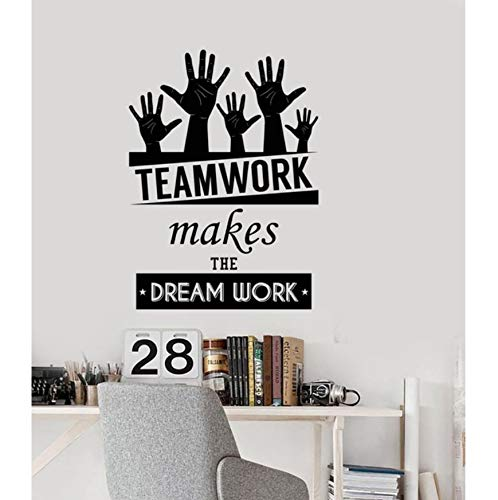 Brillint.yy wall stickers office space inspirational words team work motivazionali citazioni casa e ufficio decor pvc adesivo art decoration