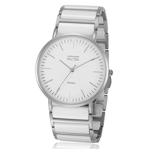 ALEXANDER MILTON - montre homme - CERES, blanc/argente