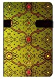 Paperblanks agenda soie verte mini 95x140 mm 1 semaine sur 2 pages à l'horizontal Janvier 2013 à Décembre 2013