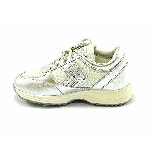 Geox - Geox scarpe bambina J Happy G Q Argento