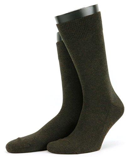 Preisvergleich Produktbild FALKE Socken - FAMILY Größe 50, Farbe Braun-Melange