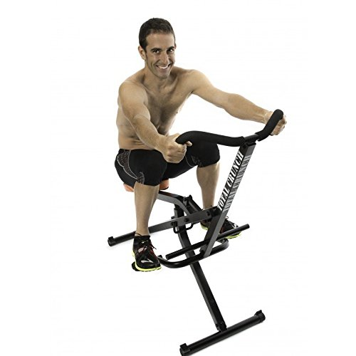 Total Crunch All in One Home Resistance & Cardio Trainer with Integrated Fitness Bike, Black