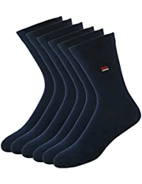 Navy Sport Men's Cotton Socks, Set of 3 (Blue)