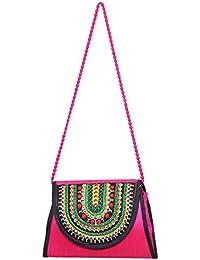 Designer And Trendy Handicraft Jhola Bag Ethnic Design Embroidery Work For Girl/women/Ladies - B077P2HDKZ