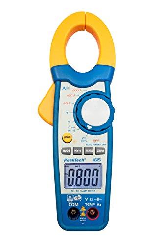 Peak Tech 1000a AC/DC pinza amperometrica/Multimetro–3999–Cifre con tester/voltmetro/Diode test/termometro/capacità Test, 1pezzi, P 1615