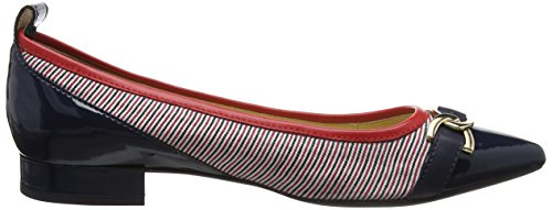 Geox D Charyssa A, Ballerine Donna Blu (marine / Blanc / Rouge)