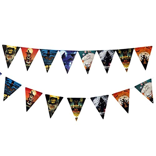 Wukong Paradise 2 STÜCKE Halloween Flagge Haunted House Vampire Partydekorationen House Party Decor 30 cm (Park Halloween Paradise)