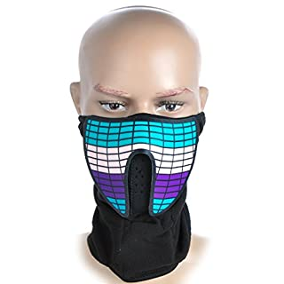 Party Leucht Sturmaske mit LED Equalizer