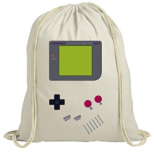 ShirtStreet Videospiel Videogame Gamer Game Computerspiel natur Turnbeutel Gym Bag Retro Spielkonsole, Größe: onesize,natur