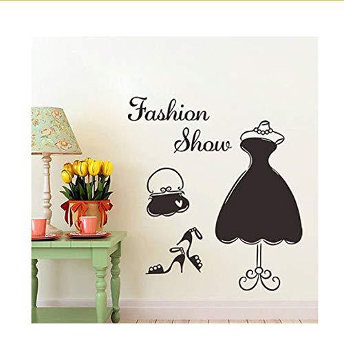 Ljtao Gute Qualität Diy Mode Frauen Anzug Kleid Wandkunst Vinyl Aufkleber Aufkleber Wandbild Schlafzimmer Dekor