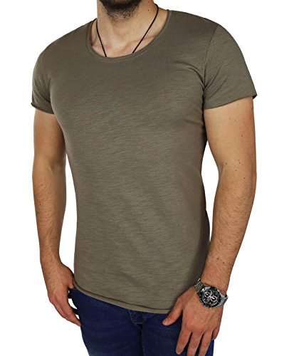 JACK & JONES Herren T-Shirt jcoLINN Tee Shirt Logoprint Regular Fit (S, Grau (Brindle Fit:REG jorBAS)) (Brindle Natürlichen)