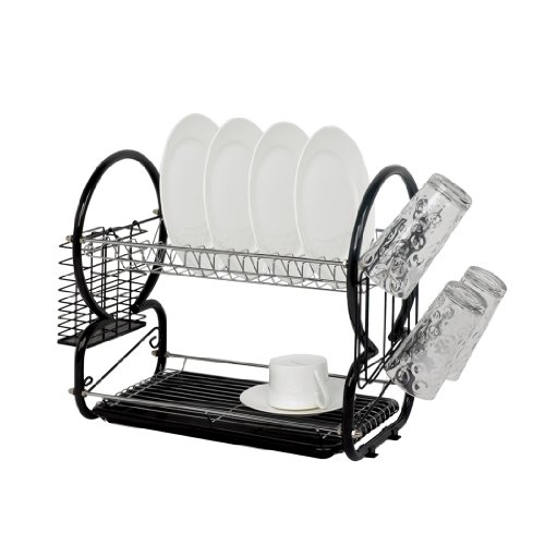 Dish drainer and cutlery rack (Black)