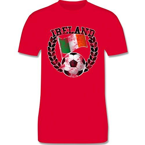 EM 2016 - Frankreich - Ireland Flagge & Fußball Vintage - Herren Premium T-Shirt Rot