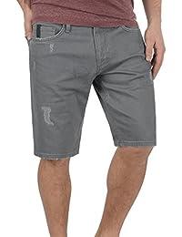 93687b2aec4e Redefined Rebel Monfire Herren Jeans Shorts Kurze Denim Hose Mit  Destroyed-Optik Aus Stretch-