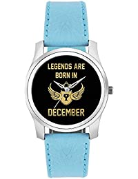BigOwl Legends Are Born In December Birthday Gift For Him Fashion Watches For Girls - Awesome Gift For Daughter...