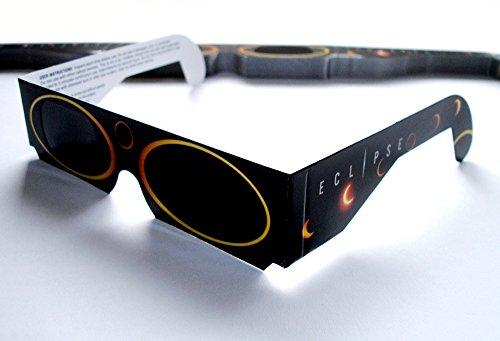 10 Stück sichere Sonnenfinsternisbrillen (SOFI-Brille) ... Brillen zur Beobachtung von totaler und partieller Sonnenfinsternis, Planetenpassage bzw. Transit (mit hochwertiger Schutzfolie)