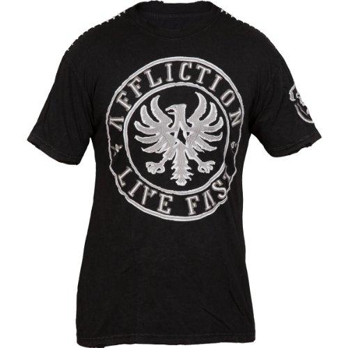 Affliction Fragment T-Shirt Schwarz Schwarz