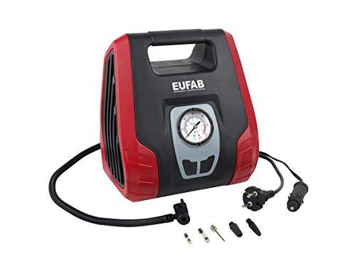 EUFAB 21076 Dual Power Kompressor mit 12 V und 230 V Anschluss