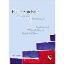 Basic Statistics for Business & Economics [With CDROM]