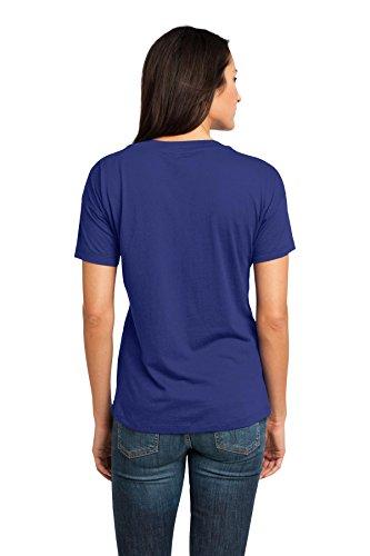 District Made Damen Modal-Mischgewebe Relaxed V-Neck Tee dm480 Lapis Blue