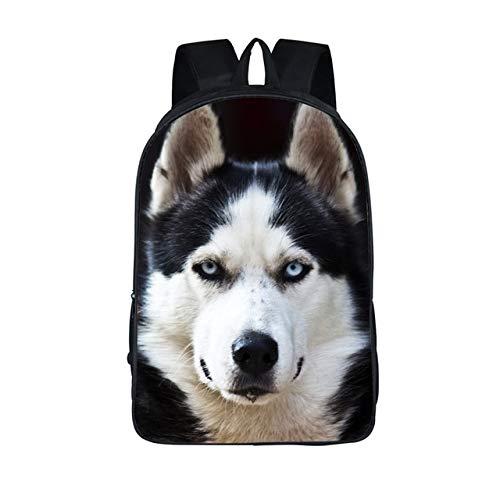 OOGUOSHENG Deutscher Schäferhund Pitbull Husky Rucksack Für Jugendliche Mädchen Jungen Haustier Hund Katze Kinder Schultaschen Cartoon Frauen Rucksack,-65454531331