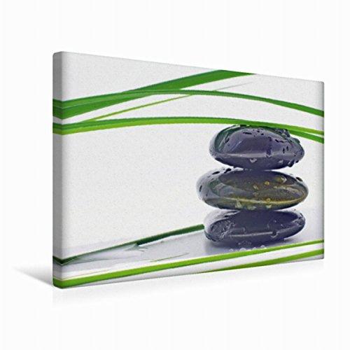 Calvendo Premium Textil-Leinwand 45 cm x 30 cm quer Wassertropfen | Wandbild, Bild auf Keilrahmen, Fertigbild auf echter Leinwand, Leinwanddruck: Wellness und Entspannung Gesundheit Gesundheit